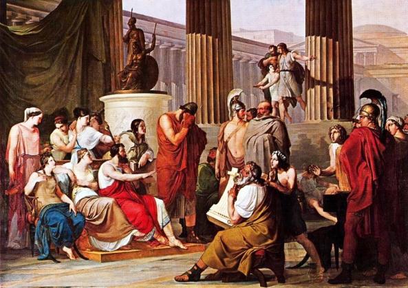 1813-15,  Francesco Hayez,  Ulisse alla corte di alcinoo