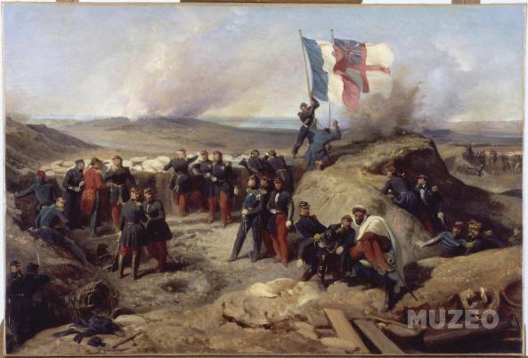 General Pelissier and his staff at Sebastopol